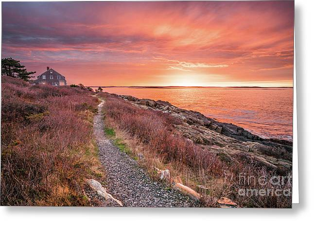 Giant Stairs Pathway Greeting Card by Benjamin Williamson