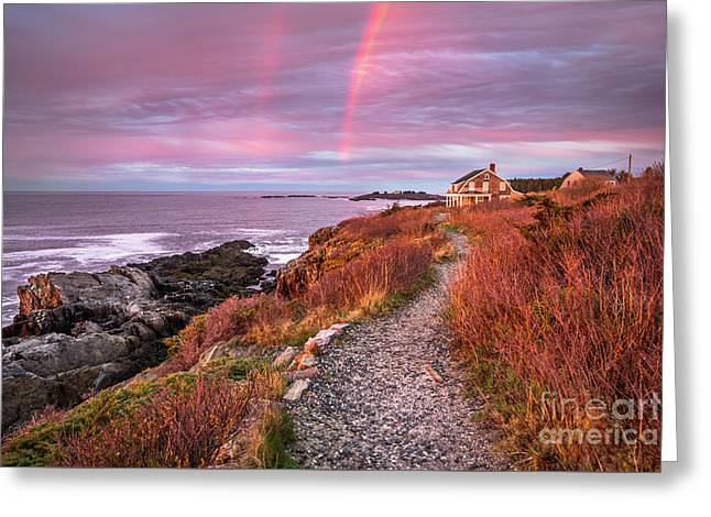 Giant Stairs Rainbow Greeting Card by Benjamin Williamson