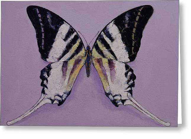 Giant Swordtail Butterfly Greeting Card by Michael Creese
