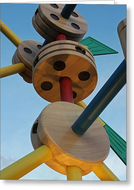 Giant Tinker Toys Greeting Card