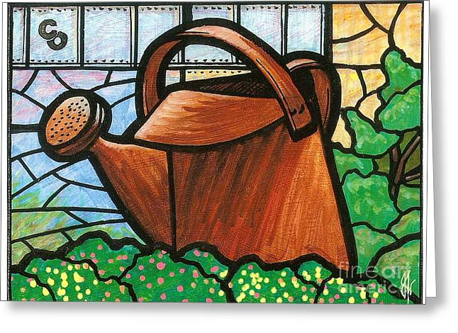 Giant Watering Can Staunton Landmark Greeting Card by Jim Harris