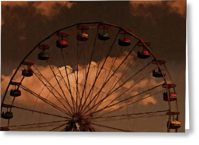 Greeting Card featuring the photograph Giant Wheel by David Dehner