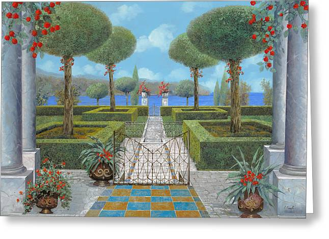 Pathways Greeting Cards - Giardino Italiano Greeting Card by Guido Borelli