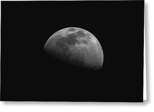 Gibbous Moon Greeting Card by Phillip Jones