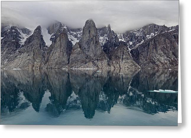 Gibbs Fiord Greeting Card by Tony Beck