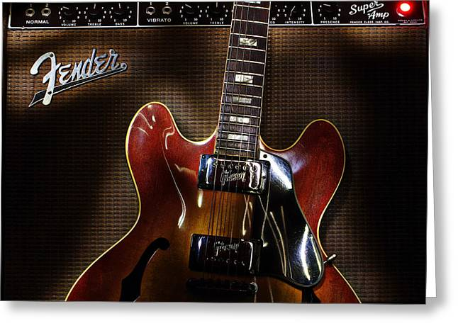 Gibson 335 Greeting Card
