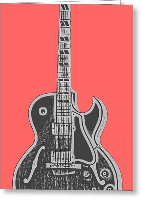 Gibson Es-175 Electric Guitar Tee Greeting Card