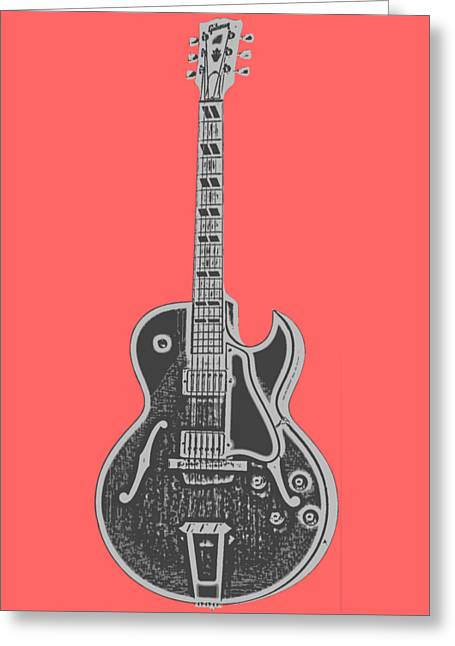 Gibson Es-175 Electric Guitar Tee Greeting Card by Edward Fielding