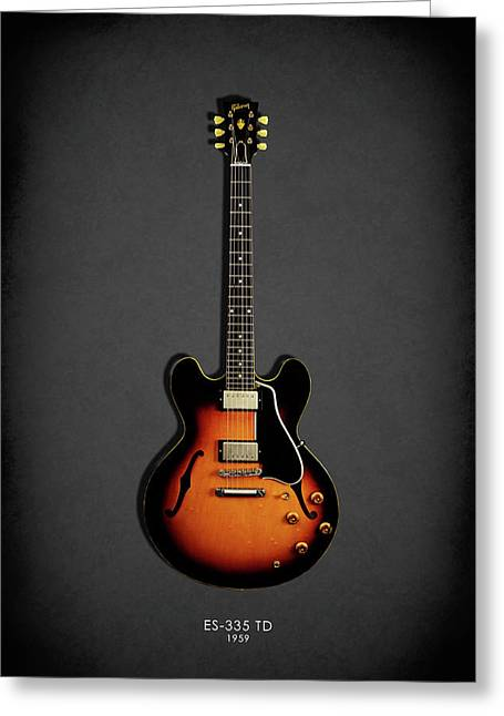 Gibson Es 335 1959 Greeting Card