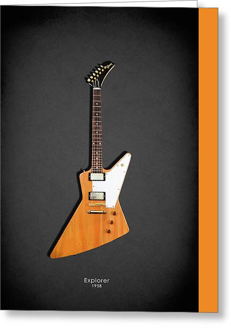 Gibson Explorer 1958 Greeting Card by Mark Rogan