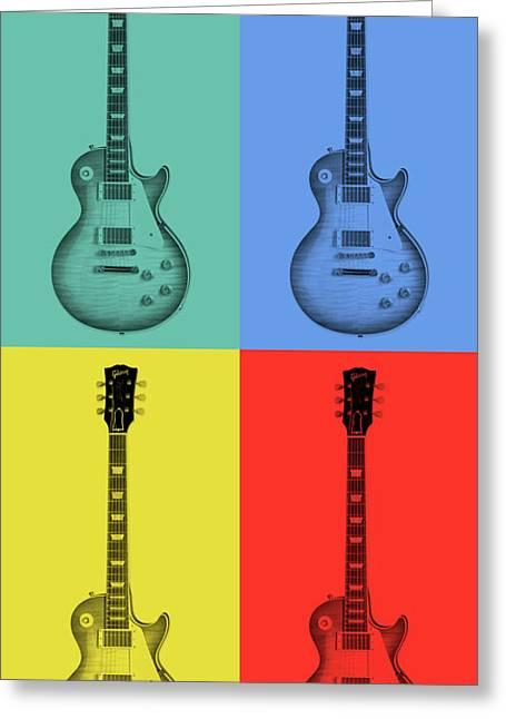 Gibson Guitar Pop Art Greeting Card