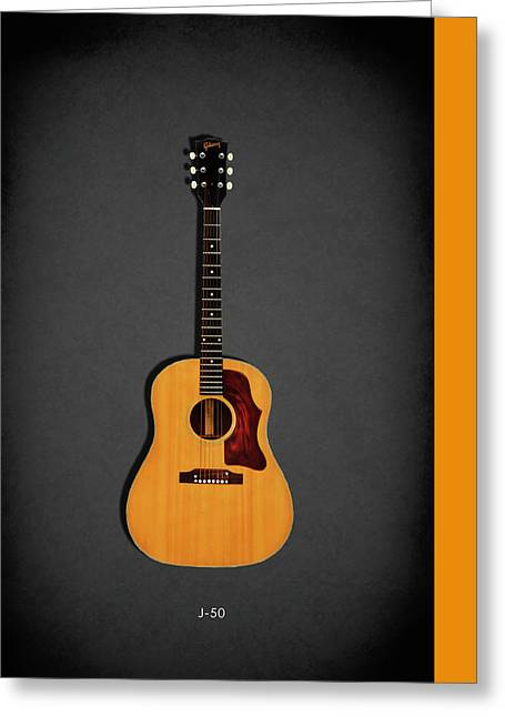 Gibson J-50 1967 Greeting Card by Mark Rogan