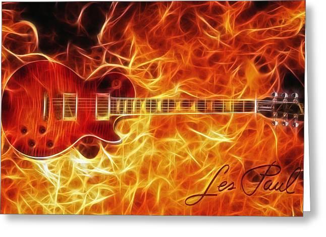 Gibson Les Paul Greeting Card by Taylan Apukovska