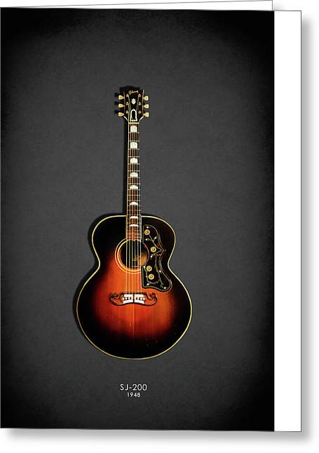 Gibson Sj-200 1948 Greeting Card by Mark Rogan