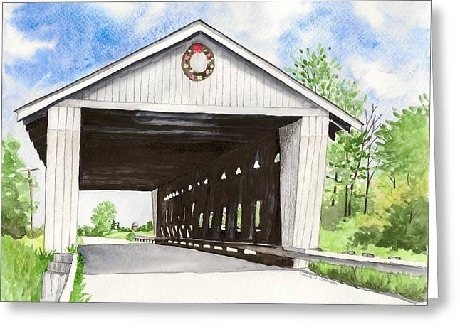 Giddings Road Bridge Greeting Card