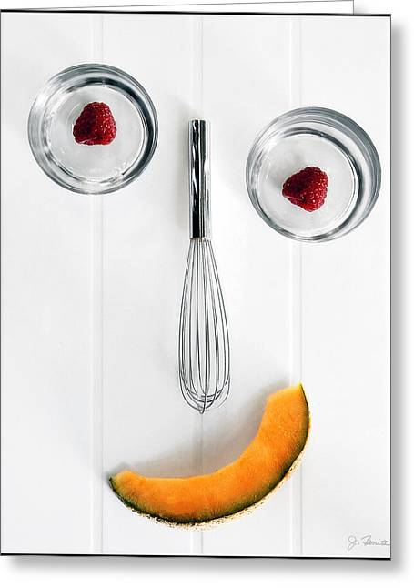 Cantaloupe Greeting Cards - Giddy in the Kitchen Greeting Card by Joe Bonita
