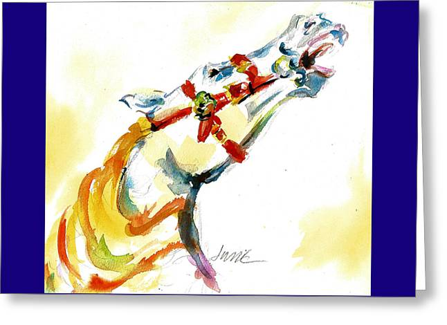 Giddy-up Carousel Horse Head Study Greeting Card