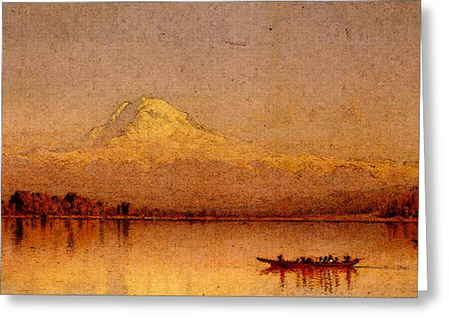 Gifford Sanford Robinson Mount Rainier Bay Of Tacoma Greeting Card