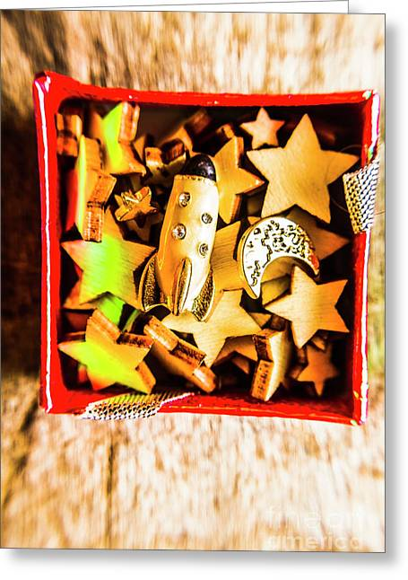 Gift Boxes And Astronomy Toys Greeting Card