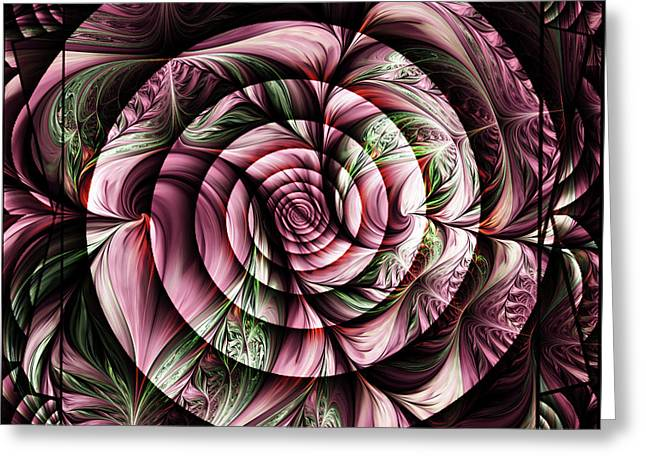 Gift For A Lady Abstract Greeting Card by Georgiana Romanovna
