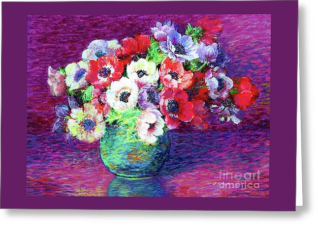 Gift Of Anemones Greeting Card
