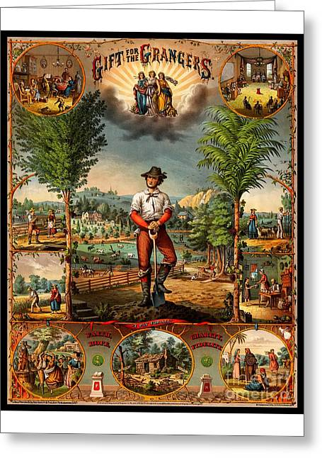 Gift For The Grangers 1873 Victoiran National Grange Agriculture Promotional Art Greeting Card