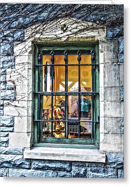 Gift Shop Window Greeting Card by Sandy Moulder