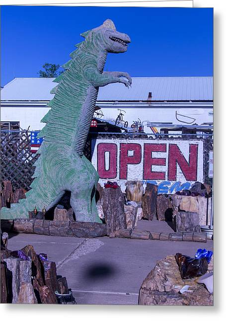 Gift Store Dinosaur  Greeting Card by Garry Gay
