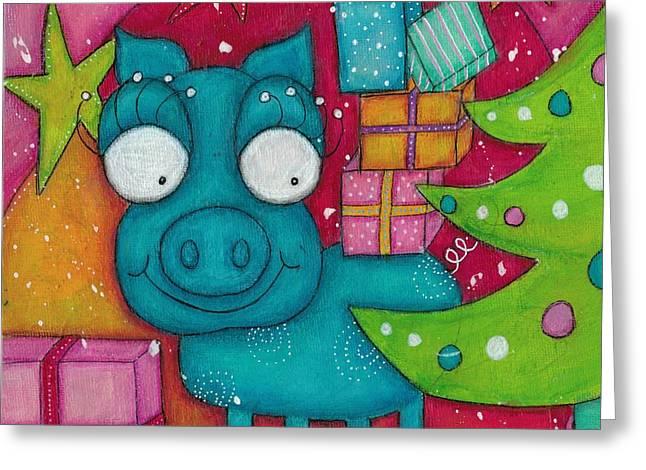 Gifting Piggy Greeting Card