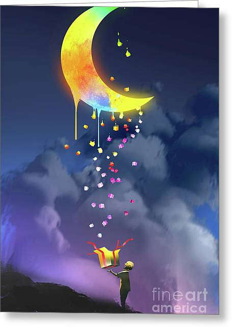 Gifts From The Moon Greeting Card