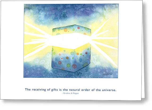Greeting Card featuring the painting Gifts Of The Universe by Kristen Fox