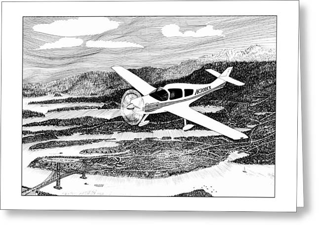 Airplane Art Framed Prints Greeting Cards - Gig Harbor Flyover Greeting Card by Jack Pumphrey