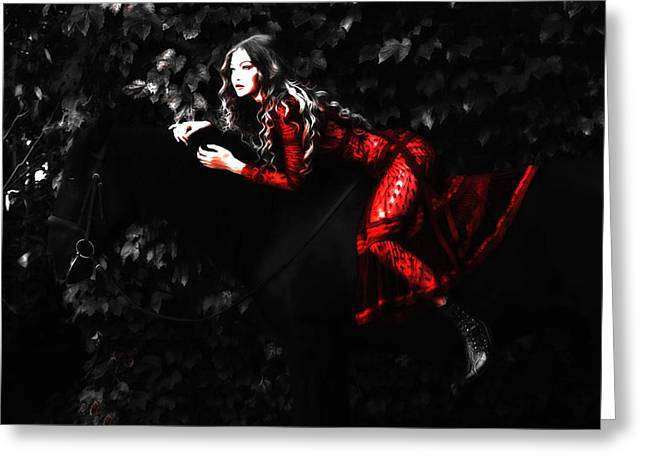 Gigi Red Dress Greeting Card