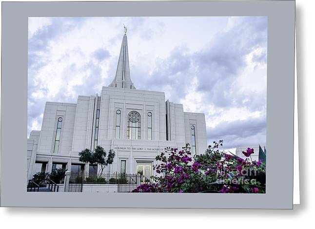 Gilbert Arizona Lds Temple 2 Greeting Card
