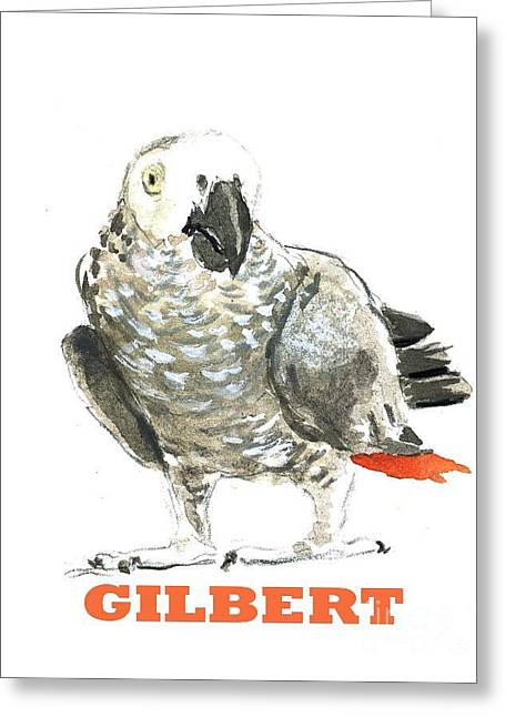 Gilbert West African Parrot Greeting Card