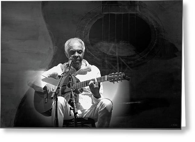 Gilberto Gil Greeting Card by Jean Francois Gil