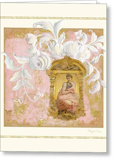 Gilded Age II - Baroque Rococo Palace Ceiling Inspired Greeting Card by Audrey Jeanne Roberts