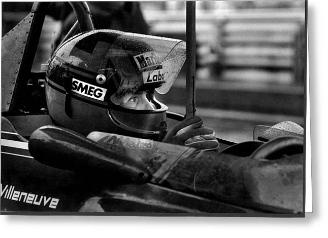Gilles Villeneuve 1950-1982 Greeting Card