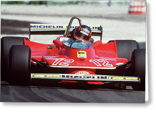 Gilles Villeneuve, Ferrari Legend - 01 Greeting Card
