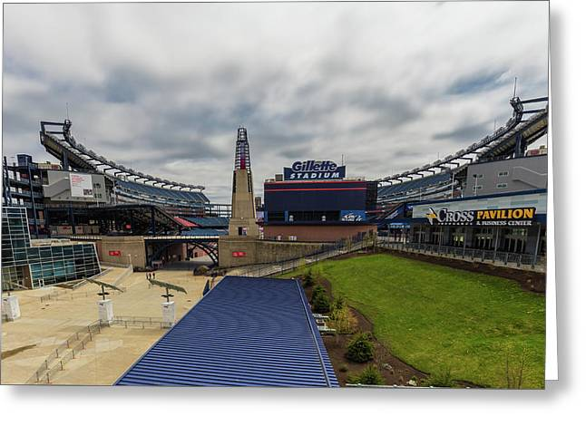 Gillette Stadium Greeting Card by Brian MacLean