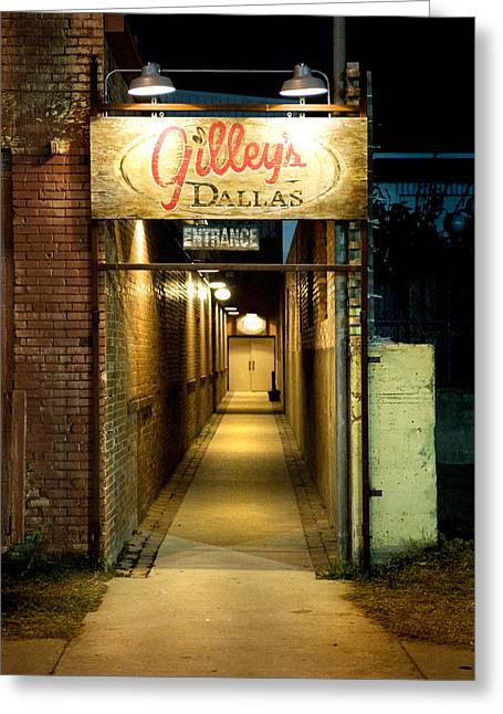 Gilleys Of Dallas At Night Greeting Card by Michelle Shockley