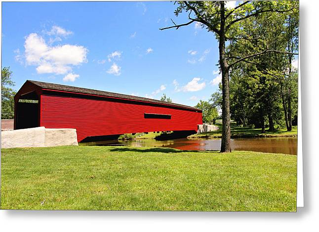 Gilpin's Falls Covered Bridge Greeting Card