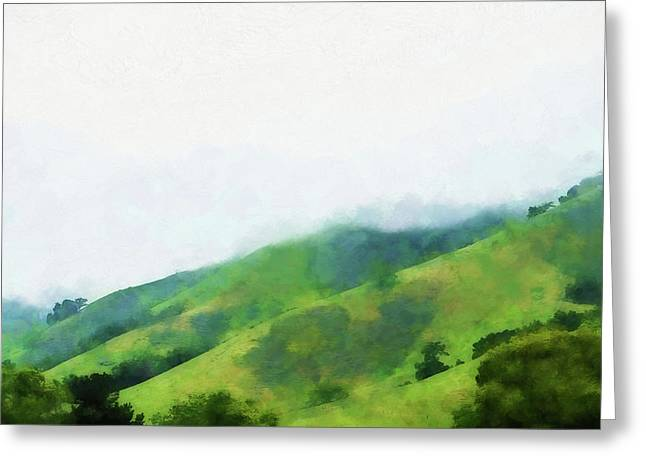 Gilroy Hills Greeting Card by Terry Davis