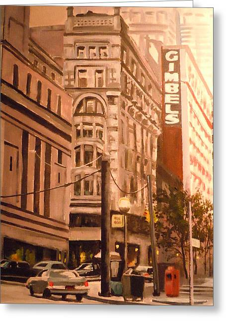 Gimbels In Pittsburgh Greeting Card by James Guentner