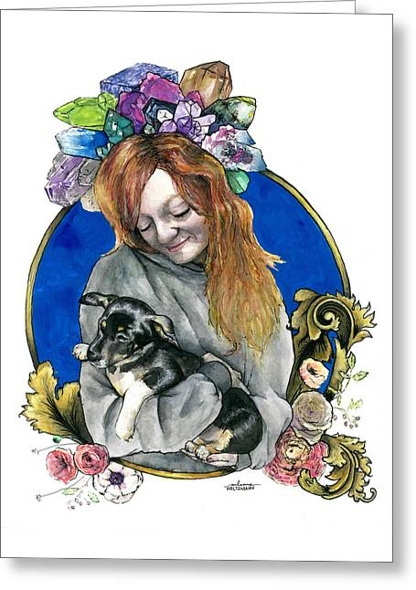 Ginger And Her Lovelies Greeting Card by Arleana Holtzmann