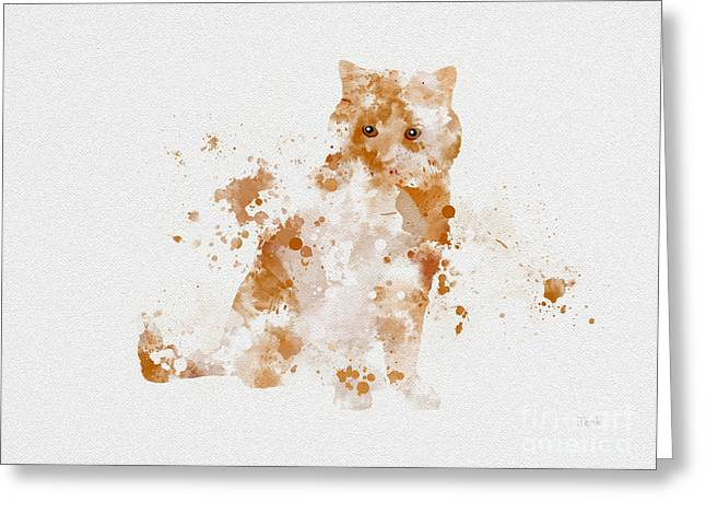 Ginger And White Cat Greeting Card