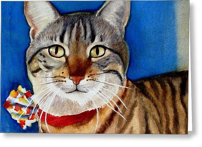 Ginger Greeting Card by Marilyn Jacobson