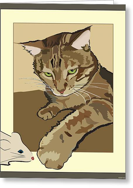 Ginger Peach Bengal Kitty Greeting Card
