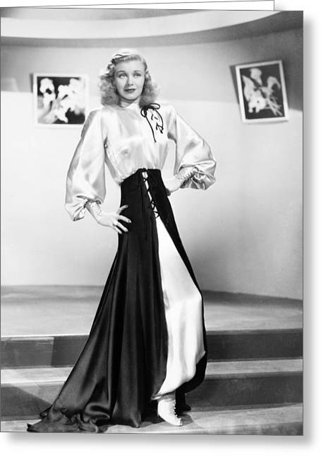 1950s Movies Photographs Greeting Cards - Ginger Rogers (1911-1995) Greeting Card by Granger