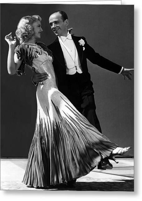 Ginger Rogers And Fred Astaire  Greeting Card by American School